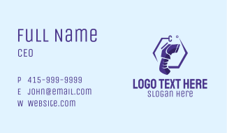 Violet Infrared Thermometer Business Card