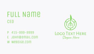 Vegan Restaurant Emblem Business Card