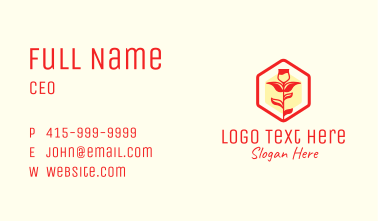 Red Rose Badge  Business Card
