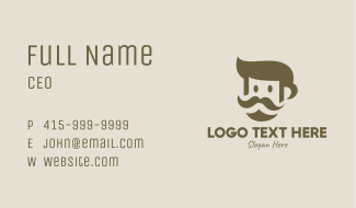 Old Mustache Man  Business Card
