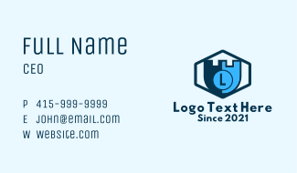 Fort Shield Lettermark Business Card