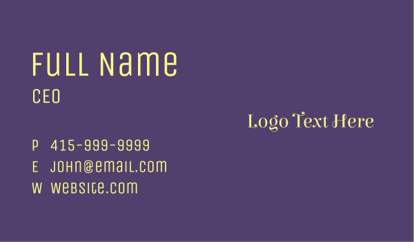 creamery - Feminine & Vintage Business card horizontal design