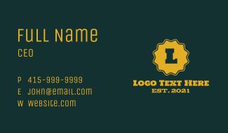Western Badge Letter Business Card