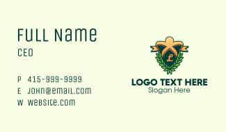 Wreath Lettermark Business Card