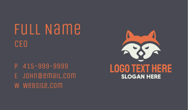 Fox Face Mascot Business Card