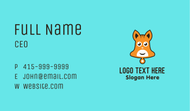 Cute Bell Hamster Business Card