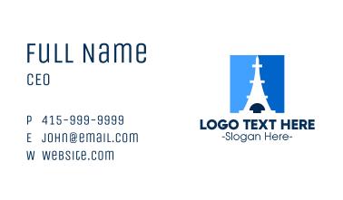 Blue Parisian Tower Business Card