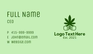 Marijuana Farmer Hand  Business Card