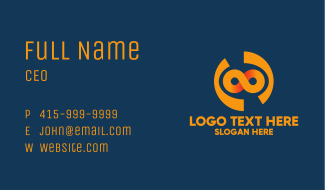 Orange Modern Infinity Business Card