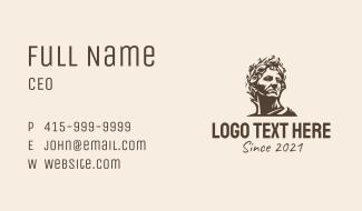 Greek God Silhouette  Business Card