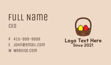 Easter Basket Egg Business Card