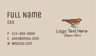 Brown Sparrow Business Card
