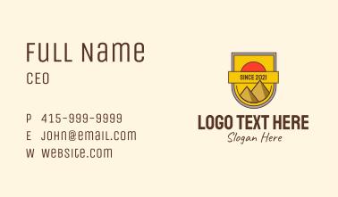 Egyptian Pyramid Badge Business Card