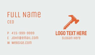 Orange Hammer Key  Business Card