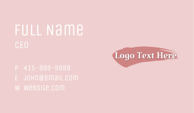 Beauty Makeup Wordmark Business Card