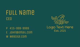 Gold Bird Nest  Business Card