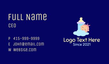 Sleeping Baby Bottle Business Card