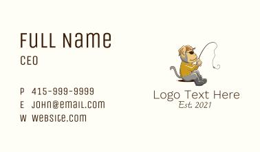 Monkey Fishing Mascot Business Card