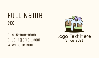 Blueberry Frosting Cake Business Card