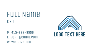 Mountain Blue Lines Business Card