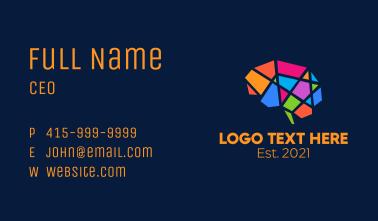 Colorful Geometric Brain Business Card