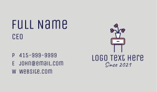 Flower Vase Drawer  Business Card