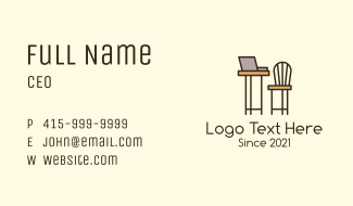 Working Space Furniture Business Card
