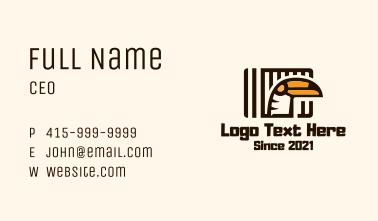 Toucan Bird Cage Business Card