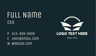 Abstract Sail Bag Business Card