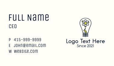 Atom Lightning Bulb Business Card