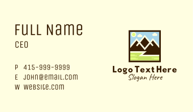 Mountain Peak Hiking  Business Card
