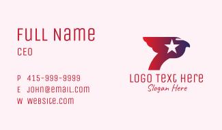 Patriotic Bird Letter P Business Card