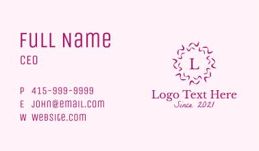 Confetti Ribbon Lettermark Business Card