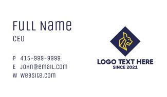 Geometric Jaguar Business Card