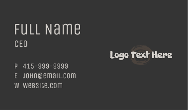 Stone Age Wordmark Business Card