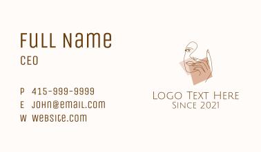 Feminine Model Art Business Card