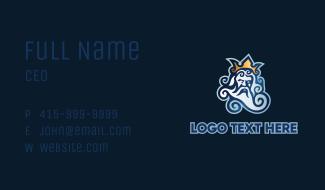 Poseidon Ocean Mascot Business Card