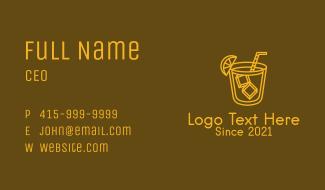 Golden Liquor Cocktail  Business Card