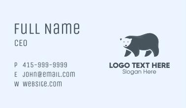 Gray Polar Bear Business Card