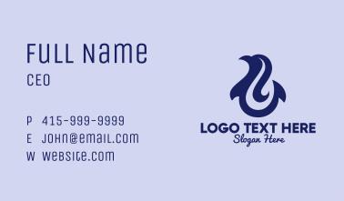 Blue Dolphin Hook Business Card