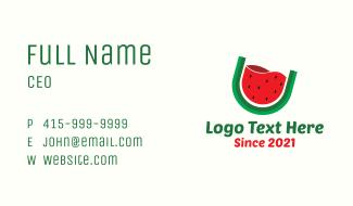 Watermelon Fruit Drink Business Card