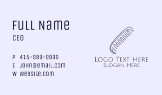 Barber Hair Art Comb Business Card