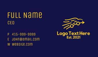 Golden Arrow Car  Business Card