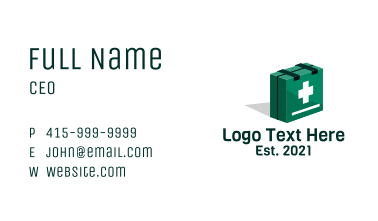 First Aid Isometric Box Business Card