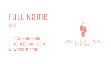 Handcrafted Feather  Business Card