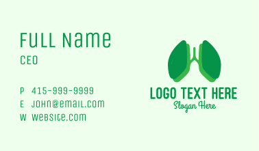 Green Lung Doctor Business Card