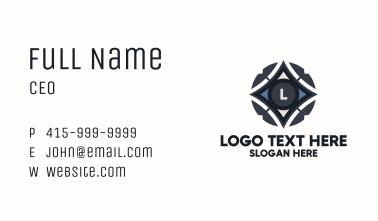 Sci Fi Star Lettermark Business Card