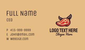 Pork Steak Dog Business Card