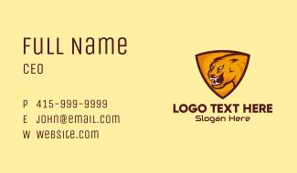 Orange Tiger Shield Business Card