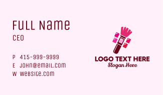 Makeup Palette Brush Business Card